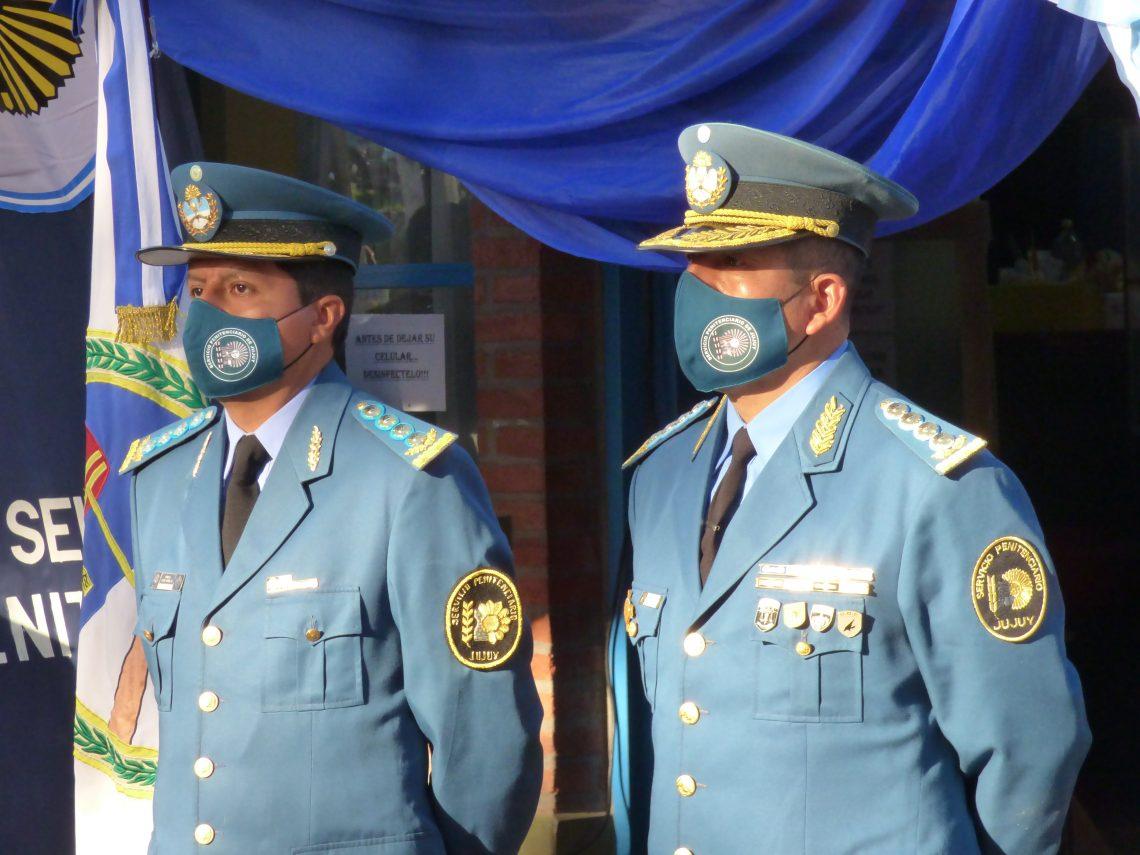 Jefe de Servicio Ariel Cari Junto al Subjefe de Servicio Rolando Gutierrez